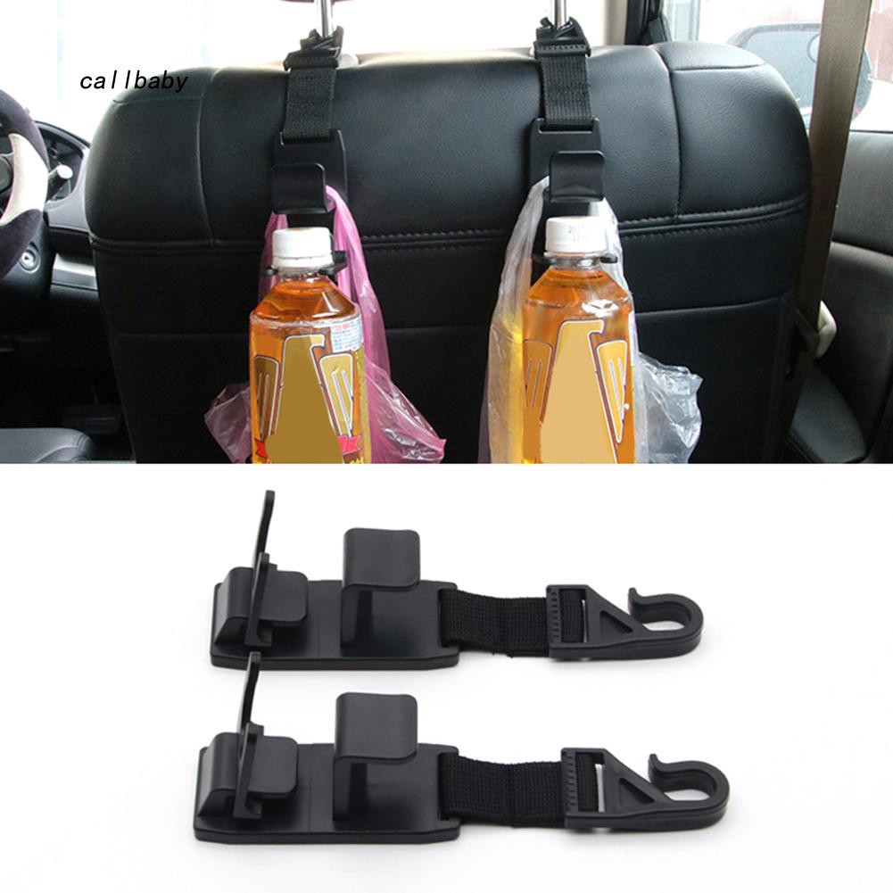 CLBB_1 Pair Heavy Duty Car Front Back Seat Headrest Hooks Hanger Storage Organizer