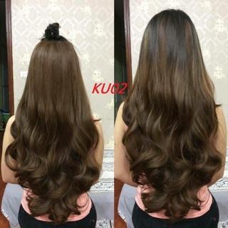 Tóc giả nữ giá rẻ ❤️FREESHIP❤️ tóc giả kẹp chữ u mã ku02