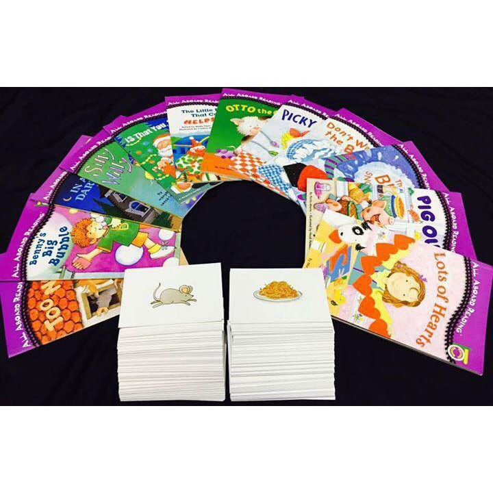 All aboard reading 12books + 288 Flashcard + link tải MP3 Free