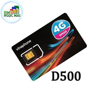 [FREESHIP 99K] Sim 4G Vinaphone Miễn Phí Data 1 Năm D500