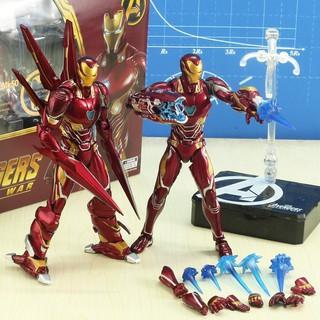 [Hàng có sẵn-Xả hàng, giá cực shock + Đèn Led] Mô hình Iron Man Mark SHFMK50 Nano – Avenger Infinity War
