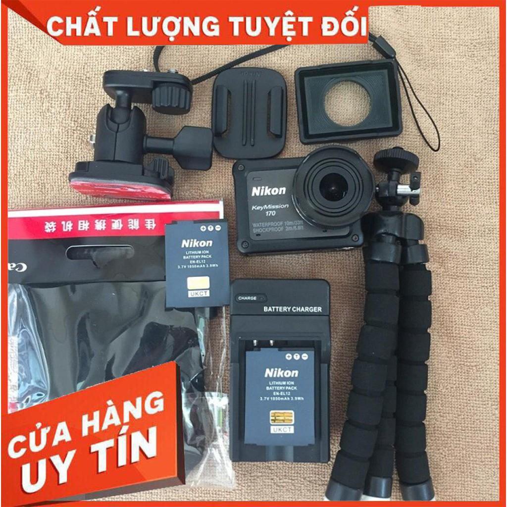 Camera hành trình Nikon Key Mission 170 quay 4K , kết nối Wifi - Bluetooth