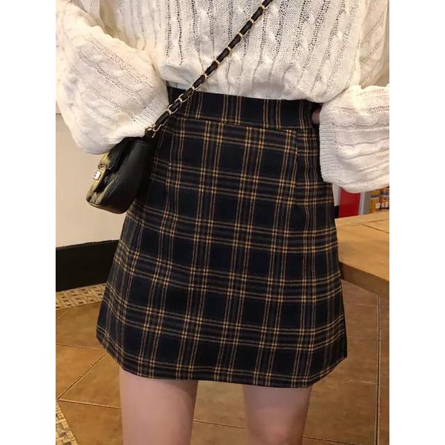 váy nữ - Chân váy dạ chân váy chữ A ca