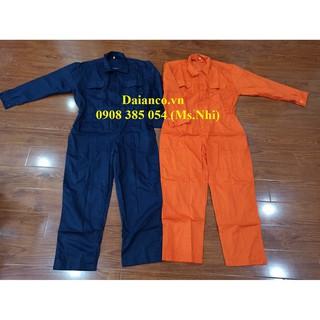 Quần áo bảo hộ lao động áo liền quần vải kaki 65 35 thấm hút mồ hôi- 2 màu lựa chọn- Ảnh thật thumbnail