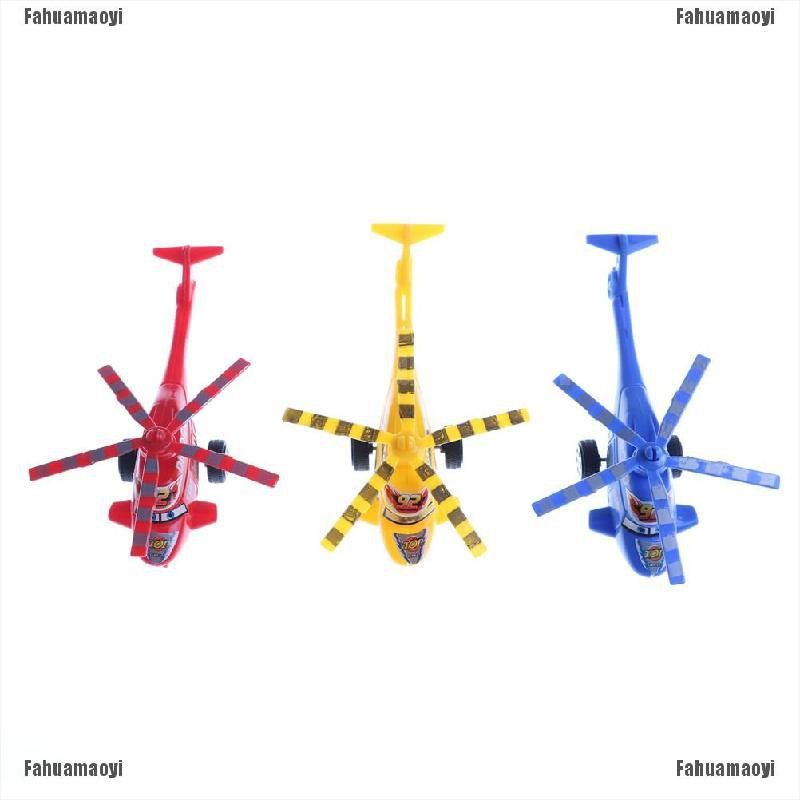 fahuamaoyi.th Plastic Air Bus Model Kids Children Pull Line helicopter Mini Plane Toy