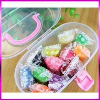 (Cực Sốc) Hộp đồ chơi đất sét 12 màu có khuôn cho bé–5969 (Xả Hết)