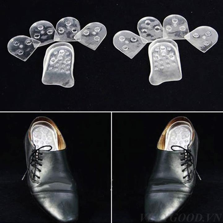 Bộ 10 miếng lót đế giày Silicon tăng chiều cao