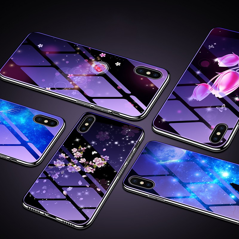 Ốp lưng kính cường lực OPPO Find X F7 A9 R15 A37 A73 F5 A83 A1 A79 Tempered Glass Hard Phone Case Back Cover