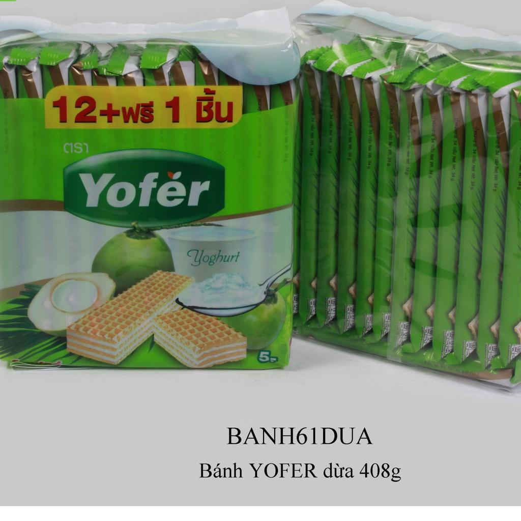 Bánh YOFER 408g vị dừa