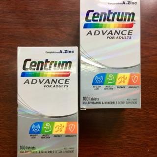 [Mã COSHOT27 hoàn 8% xu đơn 199K] CENTRUM ADULT – Vitamin tổng hợp cho người lớn