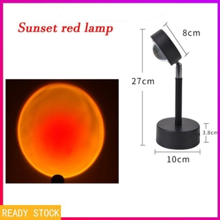 [SJB] Usb Sunset Rainbow Red Projector Led Sun Projection Night Light For Bedroom Bar Coffee Store Wall Decoration Lighting