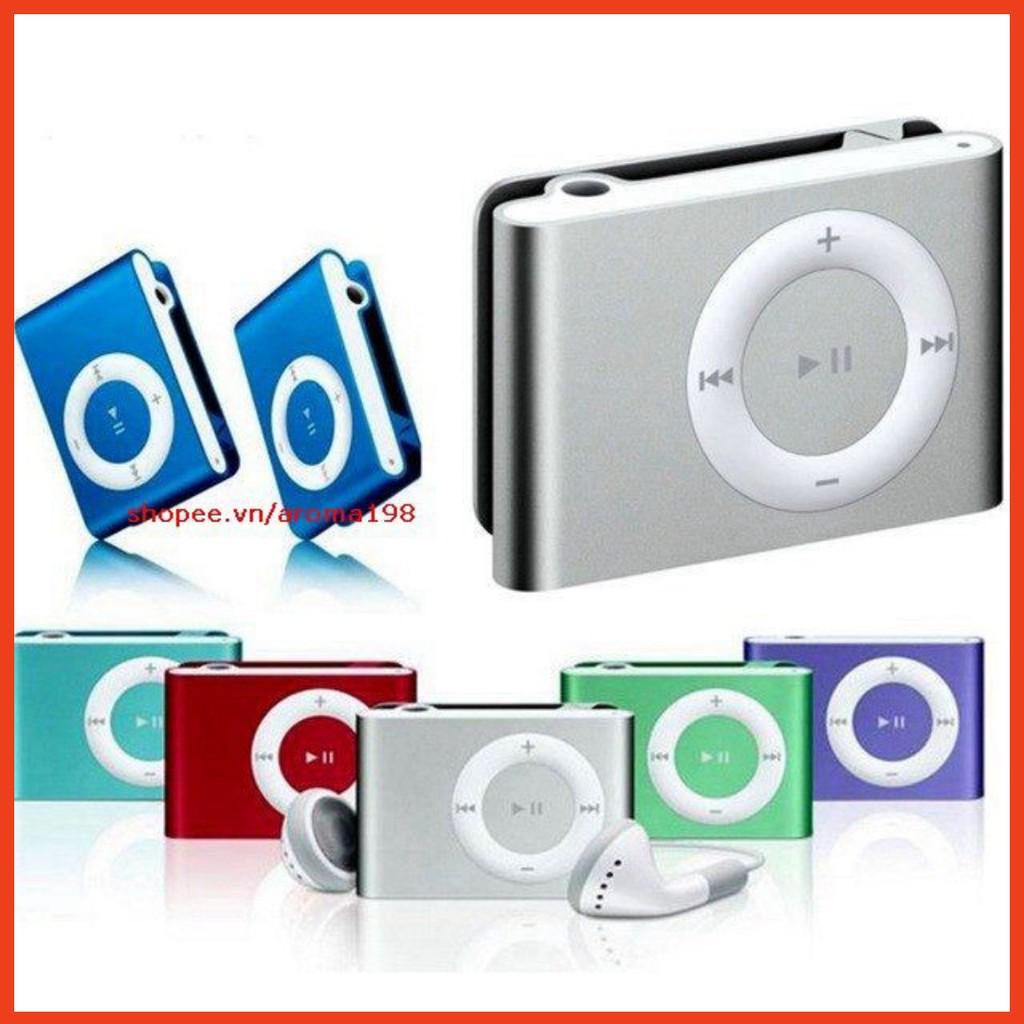 Máy Nghe Nhạc MP3 Mini Vỏ Nhôm Tặng Kèm Tai Nghe