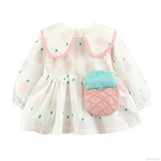 Đầm xoè Tutu tay dài hoạ tiết hoa phong cách công chúa cho bé gái
