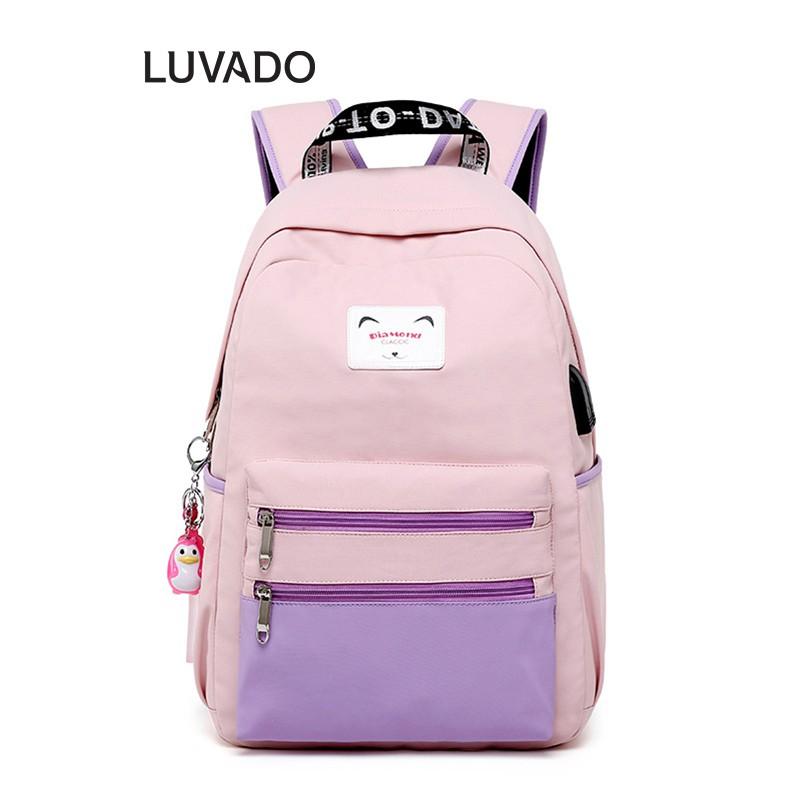 Balo nữ đi học thời trang cá tính cao cấp CLASSIC DIAMOND cute dễ thương LUVADO BL107