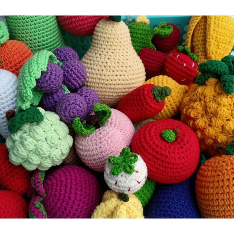 Bộ Rau Củ Trái Cây bằng len Handmade