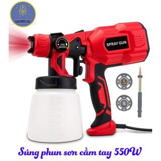 Súng phun sơn cầm tay VENICE- Dùng điện 220V – Công suất 550W – Bảo hành 12 tháng