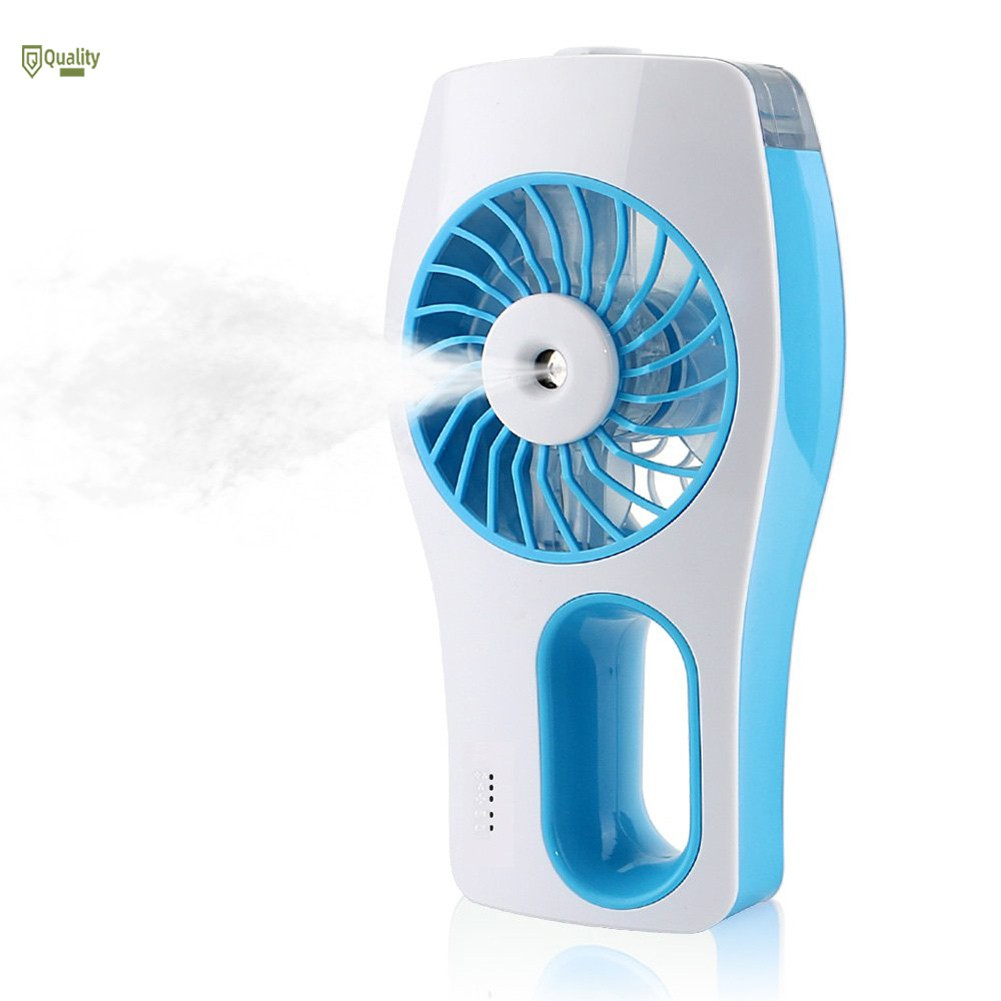 TH♥ Handheld USB Mini Misting Fan Chargeable Humidifier for Camping Hiking