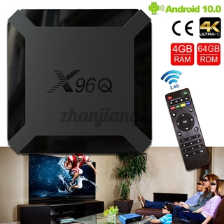 Tv Box 4g + 64gb 4k X96Q Android 10.0 Smart H313 2.4g Wifi Và Phụ Kiện