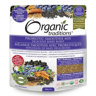 Bột lợi khuẩn hữu cơ berry burst Organic Traditions 200g