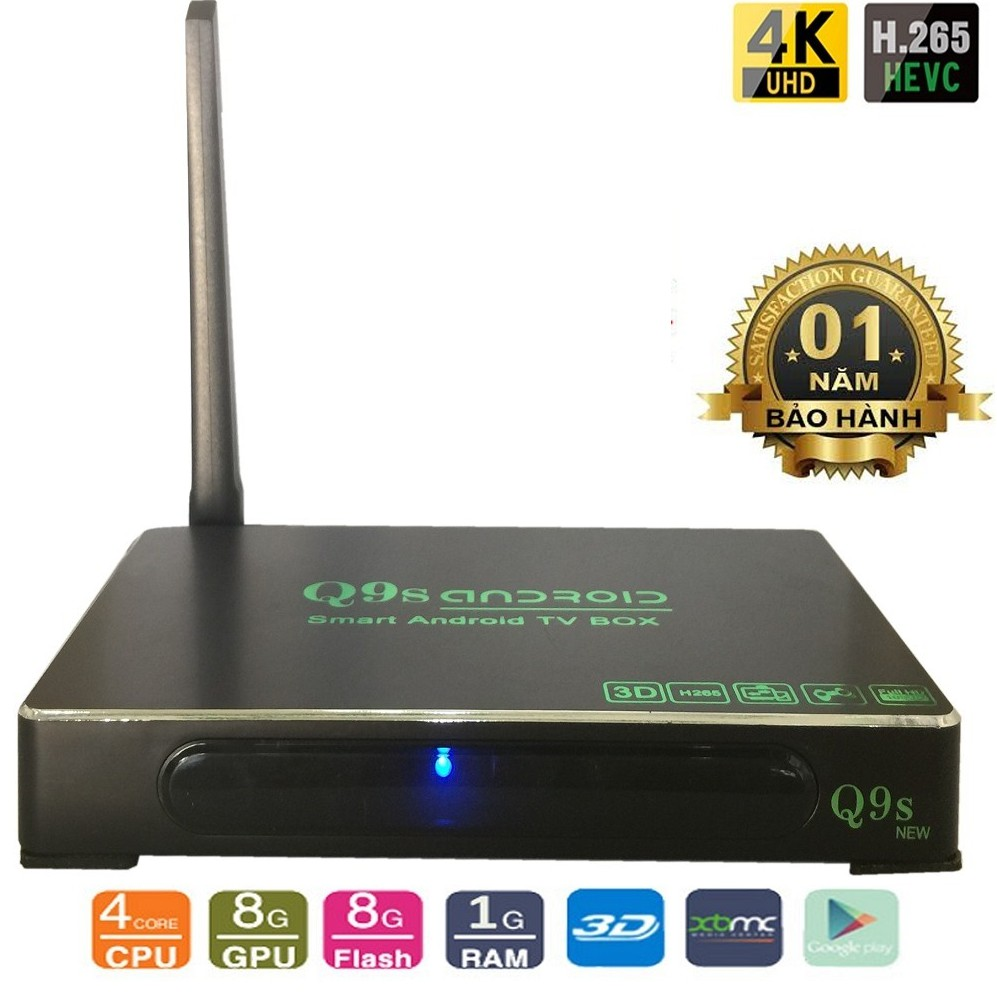 Android Tivi Box Ultra HD Q9s New Ram 1G RK3128 | SaleZone Store