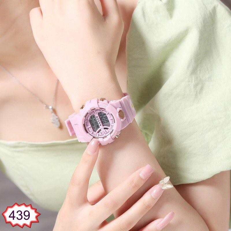 [Mã FAMAYFA2 giảm 10K đơn 50K] Đồng Hồ In Hoa Cúc Nam Nữ AOSUN 439 From Tròn Thời Trang Hot Trend