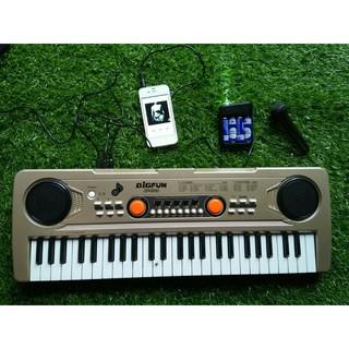 Đàn organ BIGFUN phím điện tử 49 phím với cáp micro / audio / cáp USB / hộp pin