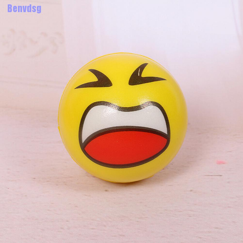 Benvdsg> Funny Smiley Face Anti Stress Reliever Ball Adhd Autism Mood Toy Squeeze Relief