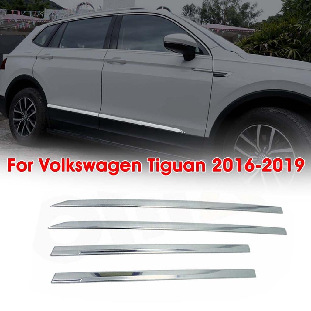 4pcs Chrome Body Molding Moulding Front  Side Door Trim  For VW Tiguan 2017-2019