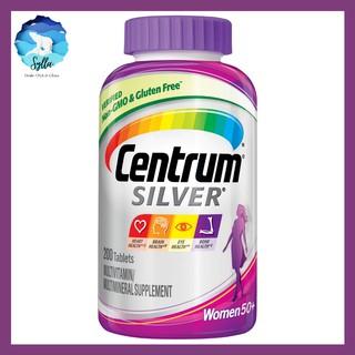 Vitamin tổng hợp cho phụ nữ Centrum Silver Multivitamin for Women 50 Plus. trên 50 tuổi với Vitamin D3, Vitamin B, Canxi