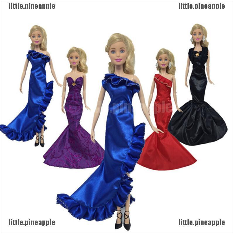 [Pine] Fashion Ruffle Wedding Party Gown Mermaid Dresses Clothes For Doll Gift