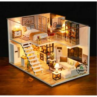 Mô hình nhà gỗ DIY Biệt thự thành phố 4