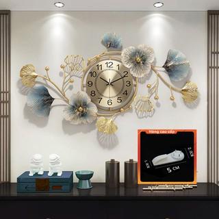 [QUÀ TẶNG LÀ 1 Đinh 4 Chân NHA BẠN dùng cho] Đồng Hồ Treo Tường Trang Trí Decor DC22 quartz hoa mai vàng hiện đại cỡ lớn