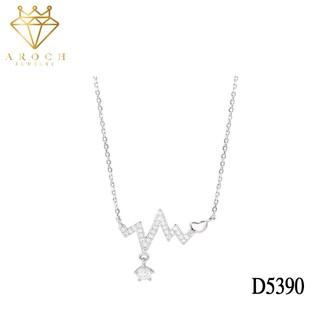 Dây chuyền bạc Ý s925 nhịp trái tim D5390 - AROCH Jewelry