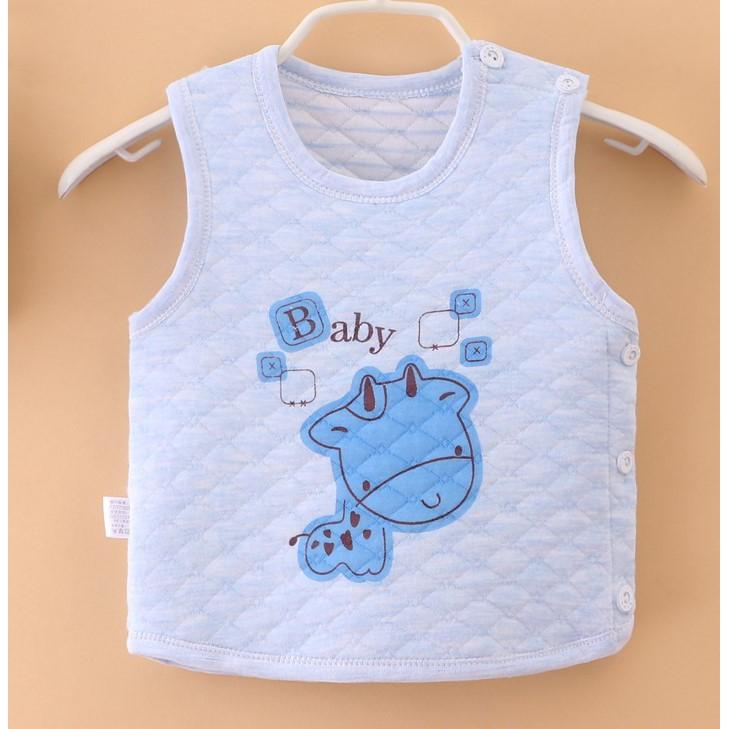 Áo ghi lê trần bông siêu nhẹ cho bé sơ sinh, chọn màu