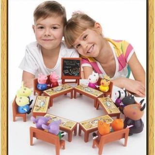 Bộ đồ chơi lớp học Peppa Pig (loại có 21 con)