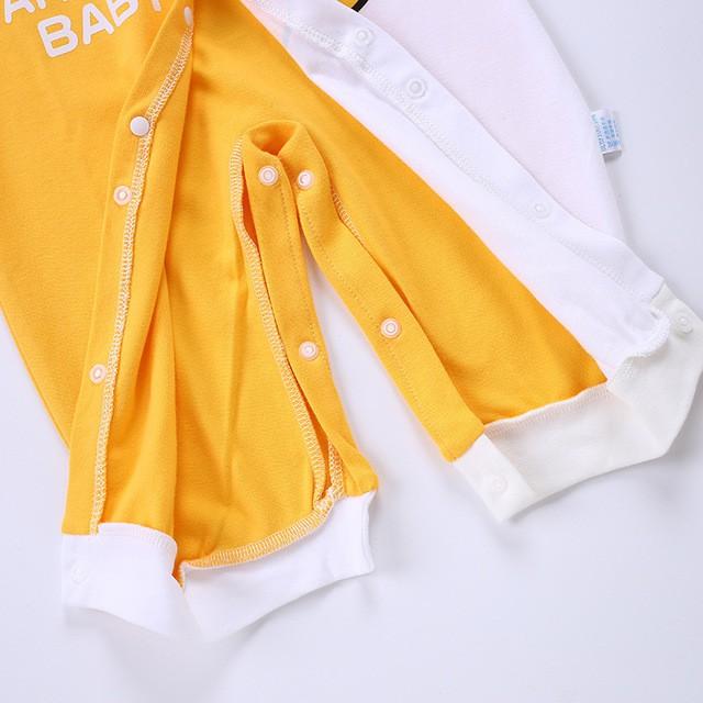Body Liền Thân Dài Tay Hình Thú Thu Đông Dễ Thương Chất Cotton Cho Bé Gái Bé Trai Từ 0-12 Tháng Tuổi