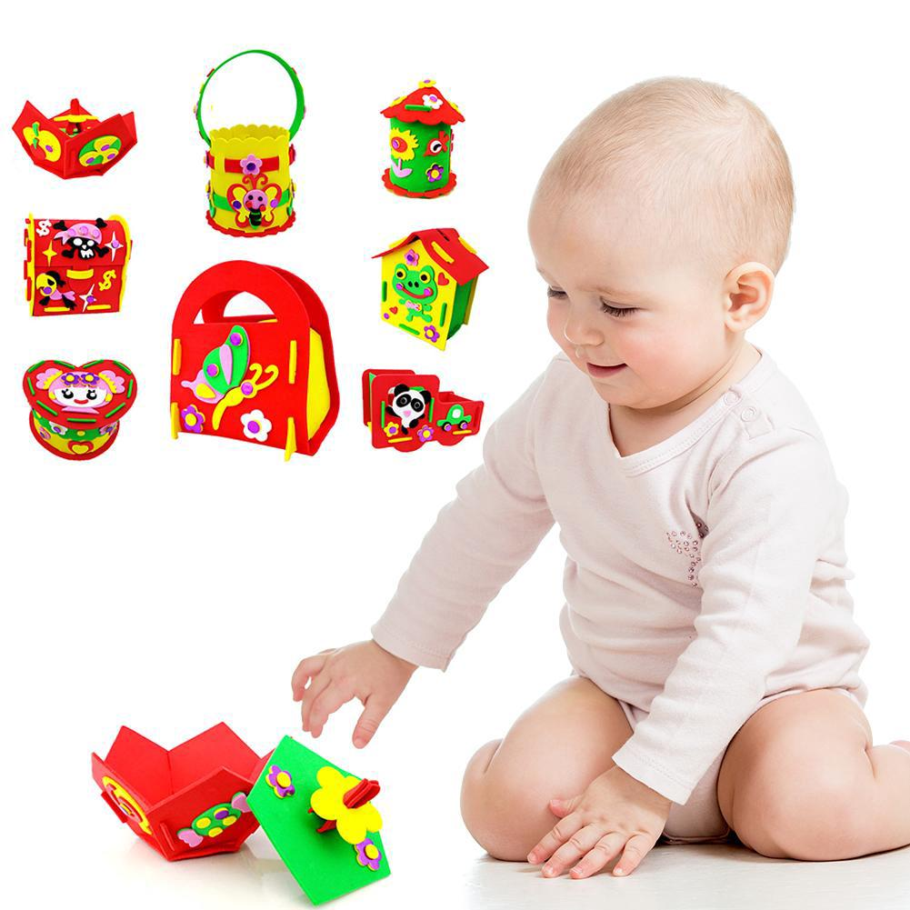 ◌◌◌Kids DIY Handmade Sticker Paste Painting Children Educational Puzzle Toys