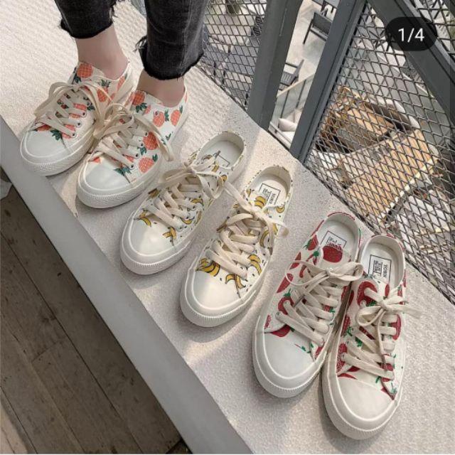Giày hoa quả