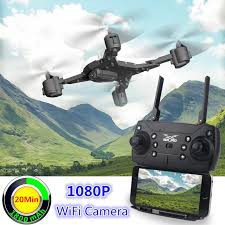 Flycam Ky601s gấp gọn bay 18-20p quay HD