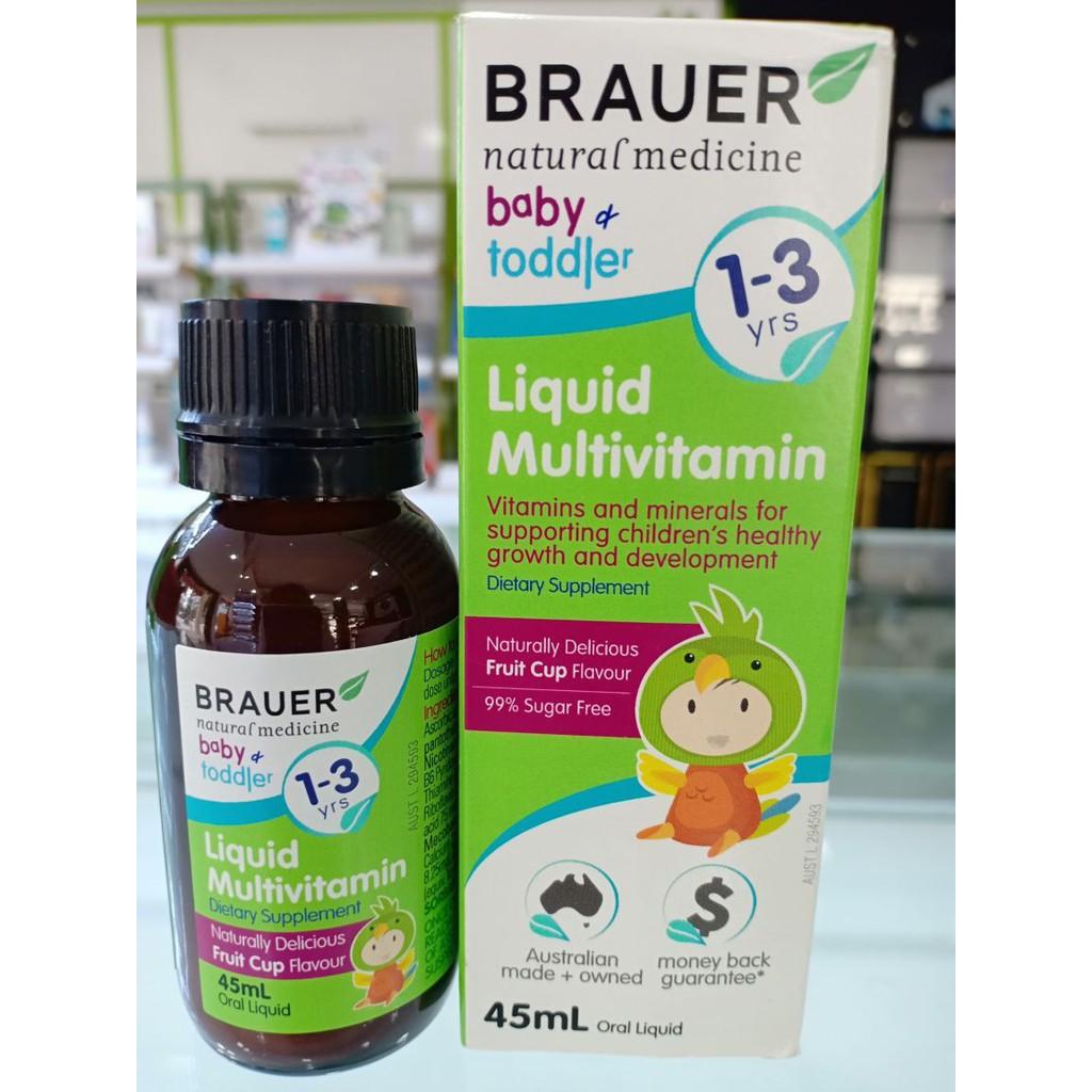 Kết quả hình ảnh cho vitamin tổng hợp brauer 1-3 tuổi 45ml