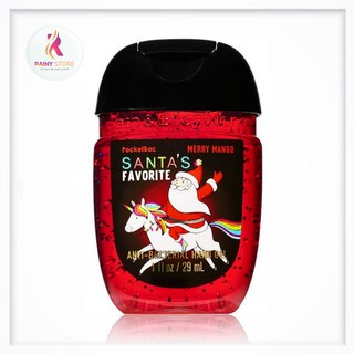 Gel rửa tay khô Bath & Body Works Santa s Favorite mùi Merry Mango 29ml thumbnail