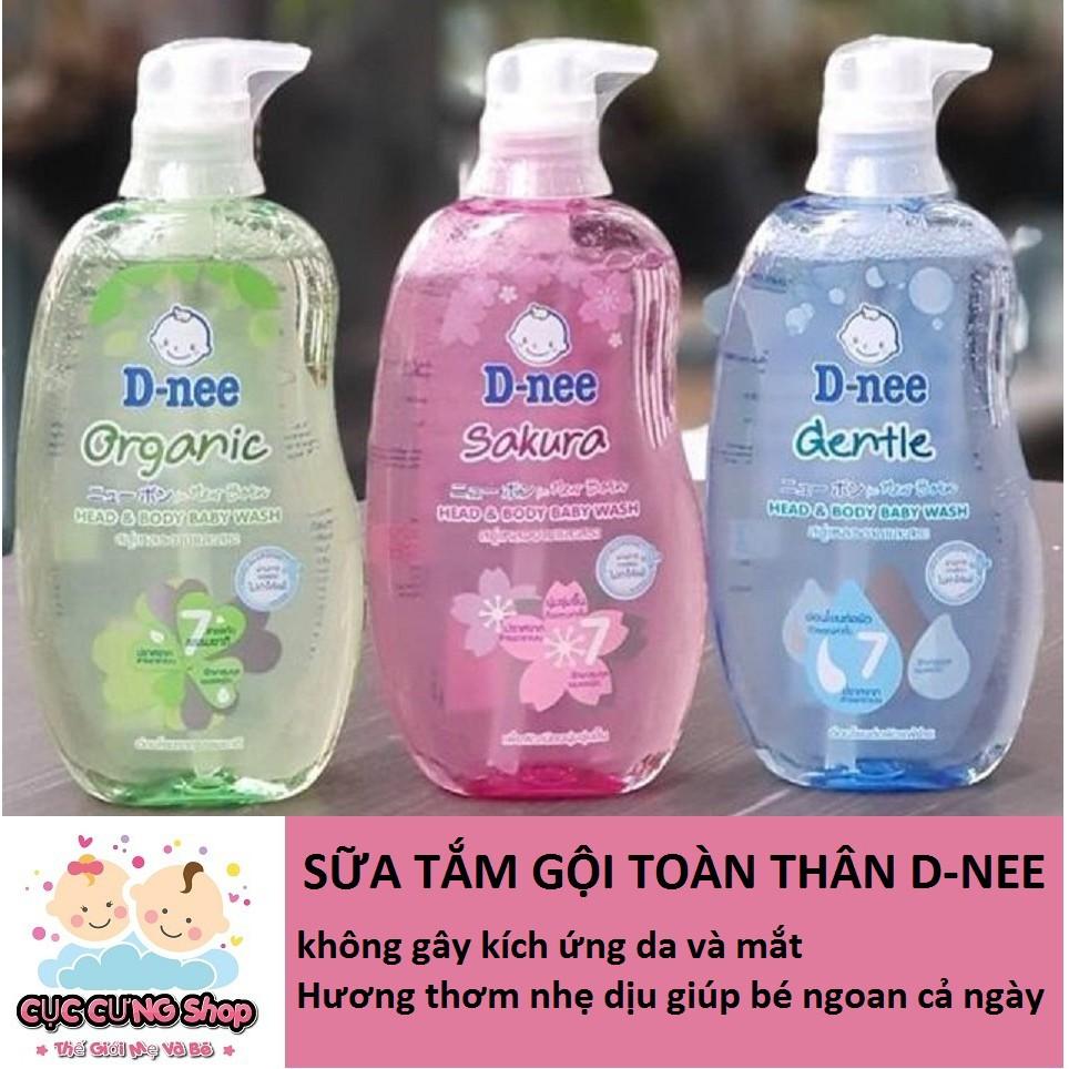 Sữa Tắm gội toàn thân Dnee Pure Cho Bé từ 0 đến 3 tuổi - 380ml