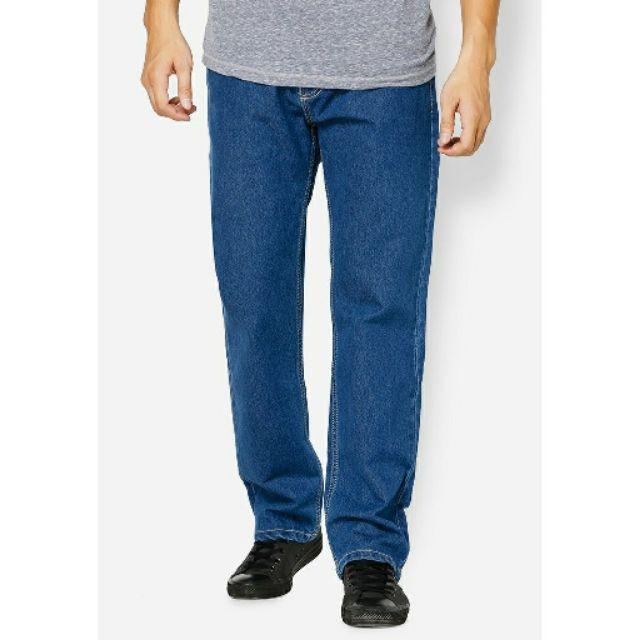 Quần jeans Nam dài giành cho trung niên .các tín đồ from rộng