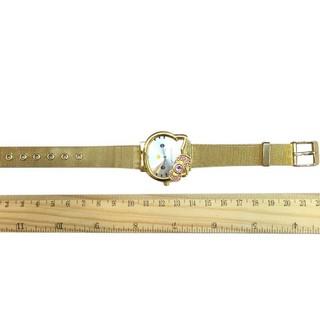 Đồng hồ đeo tay mặt hình mèo Hello Kitty dây đeo bằng thép không gỉ thời trang cho trẻ em