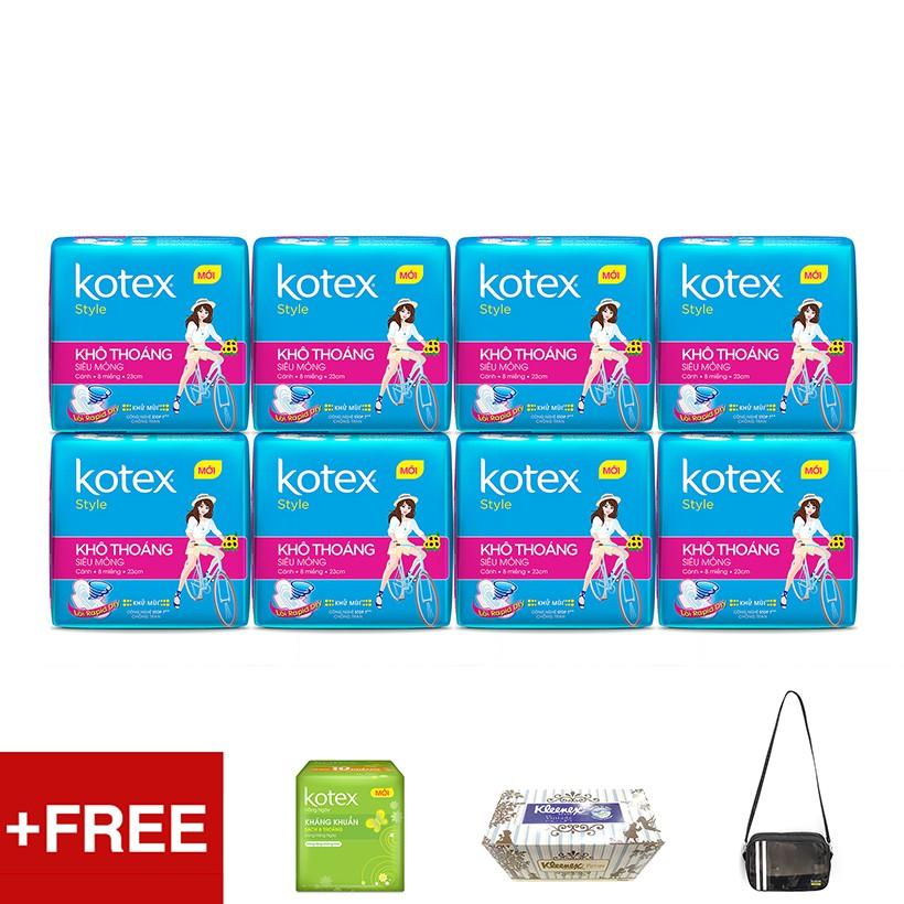 Bộ 8 gói KOTEX Style Tặng Túi thể thao + Hộp khăn giấy Kleenex + 1 Gói Kotex Hàng ngày - 3532292 , 1223293215 , 322_1223293215 , 178500 , Bo-8-goi-KOTEX-Style-Tang-Tui-the-thao-Hop-khan-giay-Kleenex-1-Goi-Kotex-Hang-ngay-322_1223293215 , shopee.vn , Bộ 8 gói KOTEX Style Tặng Túi thể thao + Hộp khăn giấy Kleenex + 1 Gói Kotex Hàng ngày