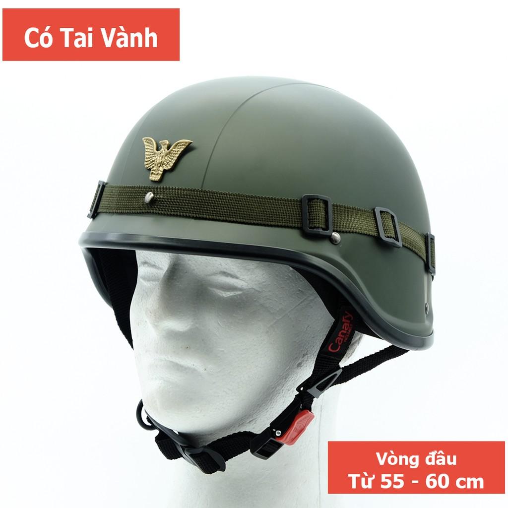 [CHÍNH HÃNG] Mũ Bảo Hiểm 1/2 Canary Kiểu Quân Đội (SWAT) [FREE SHIP]