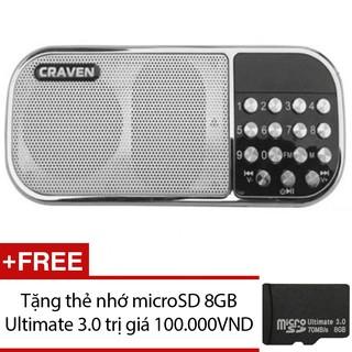 Loa nghe nhạc đa năng Craven CR-22 (Trắng) + Tặng 1 thẻ nhớ microSD 8GB