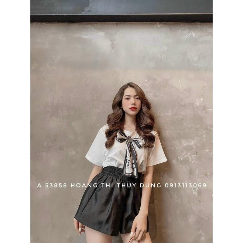 áo phông kèm nơ lụa sịn sò hót hít