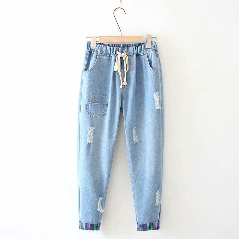 Quần jeans nữ lưng thun co dãn thêu họa tiết dễ thương - 14797855 , 2283129710 , 322_2283129710 , 459900 , Quan-jeans-nu-lung-thun-co-dan-theu-hoa-tiet-de-thuong-322_2283129710 , shopee.vn , Quần jeans nữ lưng thun co dãn thêu họa tiết dễ thương