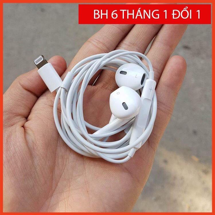 Tai nghe IP Xs/ 7 plus/ 8 plus nghe êm có mic đàm thoại sử dụng cho iphone bảo hành 12 tháng 1 đổi 1